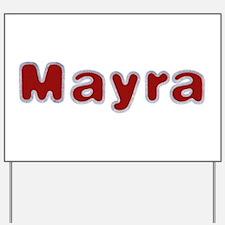 Mayra Santa Fur Yard Sign