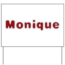 Monique Santa Fur Yard Sign