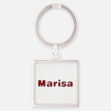 Marisa Santa Fur Square Keychain