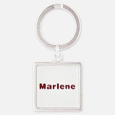 Marlene Santa Fur Square Keychain