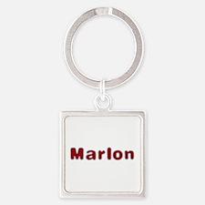 Marlon Santa Fur Square Keychain