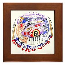 Rock and Roll Junkie Framed Tile