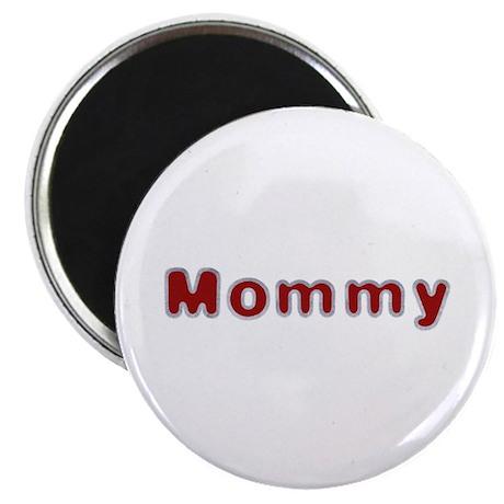 Mommy Santa Fur Round Magnet