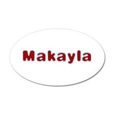 Makayla Santa Fur 20x12 Oval Wall Decal