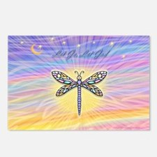 LetGo-Dragonfly (multi) Postcards (Package of 8)