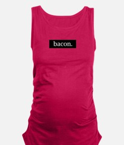 Simple Bacon Black Maternity Tank Top