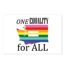 Washington one equality blk font Postcards (Packag