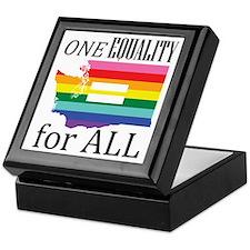 Washington one equality blk font Keepsake Box
