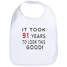 It Took 91 Birthday Designs Bib