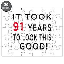 It Took 91 Birthday Designs Puzzle