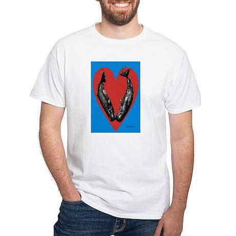 Valentine Kiss White T-Shirt