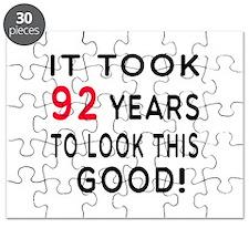 It Took 92 Birthday Designs Puzzle