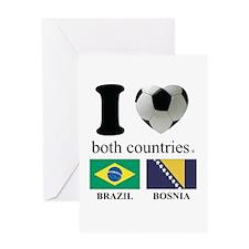 BRAZIL-BOSNIA Greeting Card