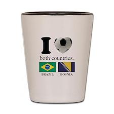 BRAZIL-BOSNIA Shot Glass