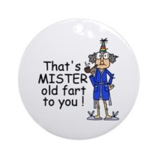 Mr. Old Fart Ornament (Round)