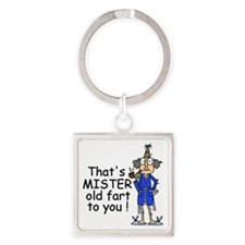 Mr. Old Fart Square Keychain