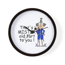 Mr. Old Fart Wall Clock
