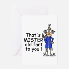 Mr. Old Fart Greeting Card