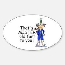 Mr. Old Fart Sticker (Oval)