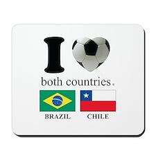 BRAZIL-CHILE Mousepad