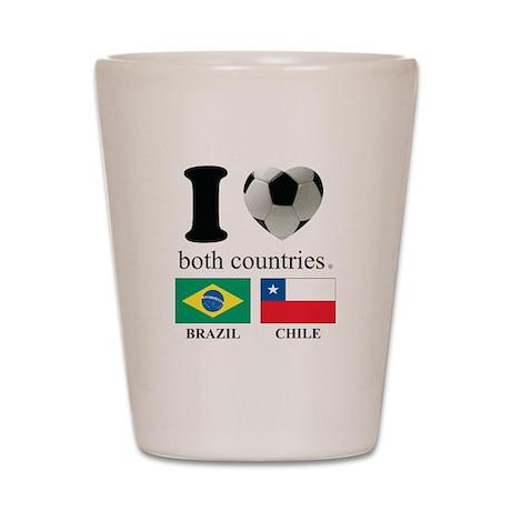 BRAZIL-CHILE Shot Glass