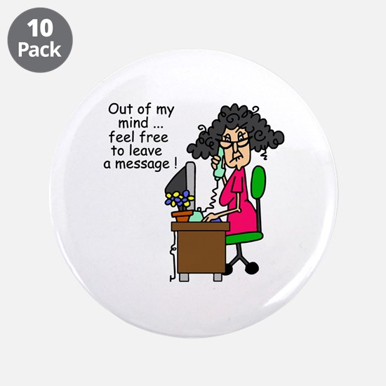 """Out of My Mind 3.5"""" Button (10 pack)"""