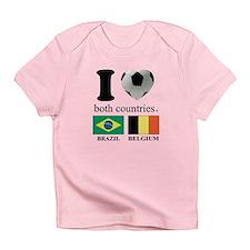 BRAZIL-BELGIUM Infant T-Shirt