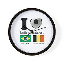 BRAZIL-BELGIUM Wall Clock
