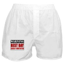 Warning Rest Day Boxer Shorts