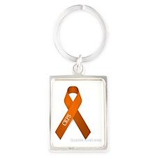 Ribbon with CRPS Portrait Keychain