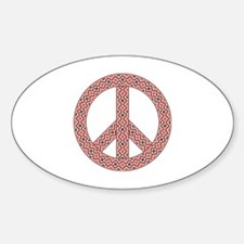 Funny White tribal Sticker (Oval)