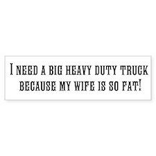 Heavy Bumper Sticker