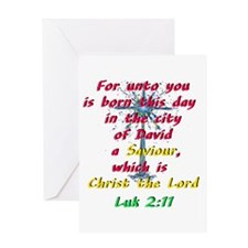 Saviour Christ the Lord Greeting Cards