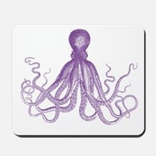 Purple Octopus Mousepad