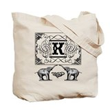Initials Canvas Bags