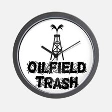 Oilfield Trash Wall Clock
