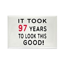 It Took 97 Birthday Designs Rectangle Magnet (100