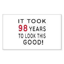 It Took 98 Birthday Designs Decal