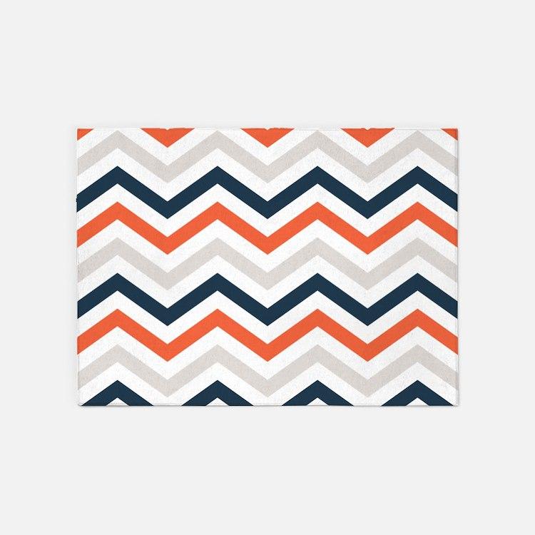 Coral and gray curtains - Orange Gray Chevron Bedding Orange Gray Chevron Duvet Covers Pillow