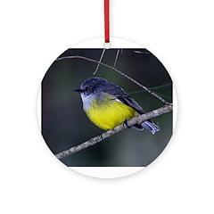 Yellow Robin Ornament (Round)