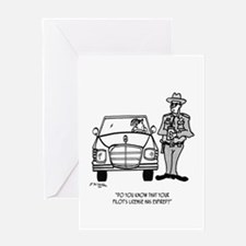 Pilot Cartoon 5214 Greeting Card