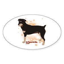 Tripawd Rottweiler Decal