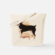 Tripawd Rottweiler Tote Bag