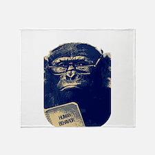 Chimp Reading Human Behavior Throw Blanket