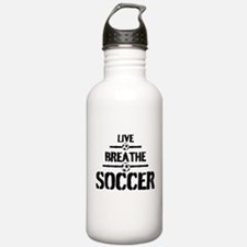 Live Breathe Soccer Water Bottle