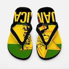 Jamaican Rasta Flip Flops