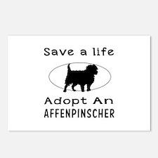 Adopt An Affenpinscher Dog Postcards (Package of 8