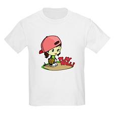 Baseball/Softball Girl Kids T-Shirt