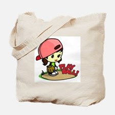 Baseball/Softball Girl Tote Bag