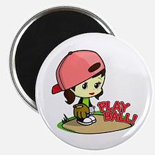 Baseball/Softball Girl Magnet